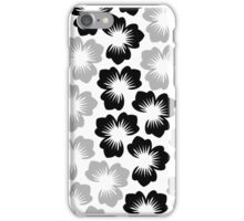 Black and White Petals 4s & 4 iphone case iPhone Case/Skin
