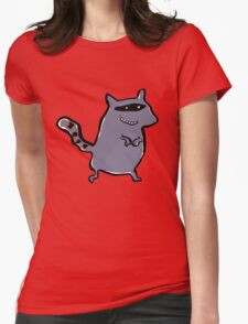 racoon Womens Fitted T-Shirt