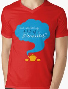 Bit of a Domestic Mens V-Neck T-Shirt