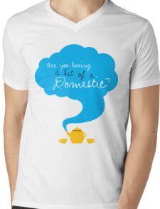 Bit of a Domestic Mens V-Neck T-Shirt