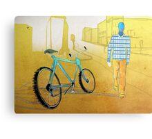 Bicycle Thief, Hot Summer Street Metal Print