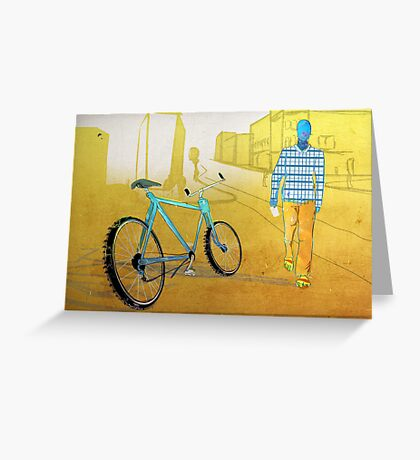 Bicycle Thief, Hot Summer Street Greeting Card