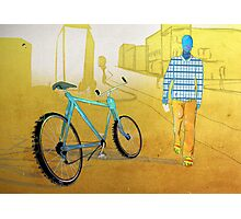 Bicycle Thief, Hot Summer Street Photographic Print