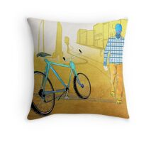 Bicycle Thief, Hot Summer Street Throw Pillow