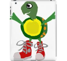 Funny Cool Green Turtle with Red High Top Shoes iPad Case/Skin