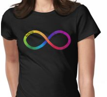 Autistic Pride Symbol with Text Womens Fitted T-Shirt