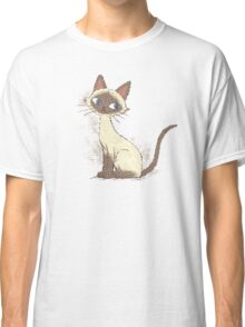 Siamese cat sitting Classic T-Shirt