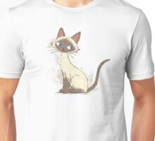 Siamese cat sitting Unisex T-Shirt