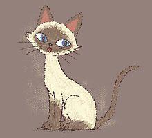 Siamese cat sitting by Toru Sanogawa