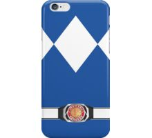 MMPR Blue Ranger Uniform iPhone Case/Skin