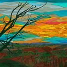 Drawing of the Blue Ridge Mountains of Virginia by BCallahan