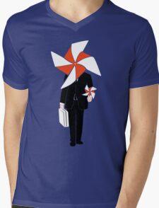 Pinwhell Man Mens V-Neck T-Shirt