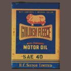 Nostalgic Golden Fleece motor oil tin by blulime