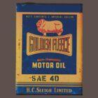 Nostalgic Golden Fleece motor oil tin by blulime