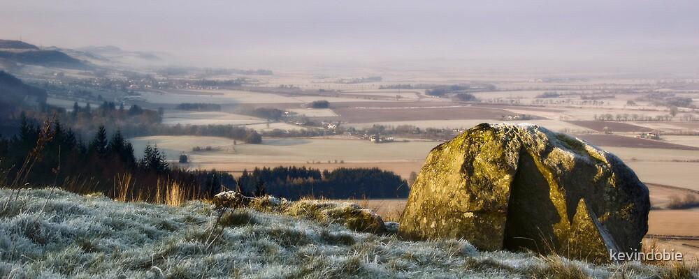 Frosy morning hillside by kevindobie