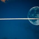Jet stream full moon by kevindobie