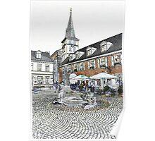 Marktbrunnen, Meerbusch Lank, NRW, Germany Poster