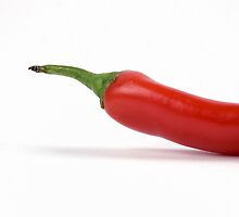 Half red hot pepper by Pier Luigi Maschietto