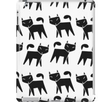Pattern black cat running in a row iPad Case/Skin