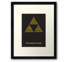 Legend of Zelda Typography Framed Print