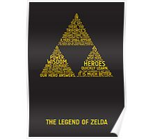 Legend of Zelda Typography Poster