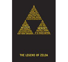 Legend of Zelda Typography Photographic Print