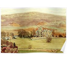 Balintore Castle Glen Isla, Angus,Scotland Poster
