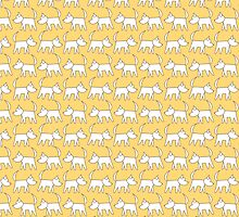 Vector seamless pattern dog walking Doodle style by Kapitosh