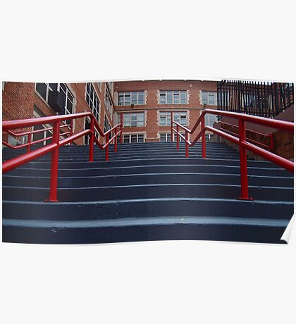 Steps and Railings Poster