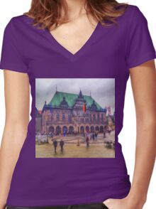 Bremen I Women's Fitted V-Neck T-Shirt