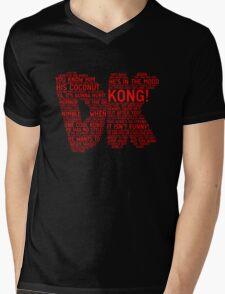 Donkey Kong Poster Mens V-Neck T-Shirt