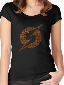 Metroid Typography Women's Fitted Scoop T-Shirt