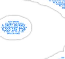 Halo Typography [Blue] Sticker
