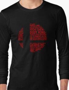 Super Smash Bros. Typography Long Sleeve T-Shirt