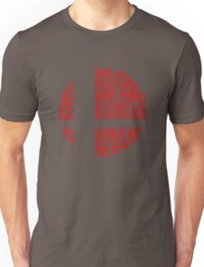 Super Smash Bros. Typography Unisex T-Shirt