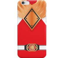 MMPR Armoured Red Ranger Uniform iPhone Case/Skin