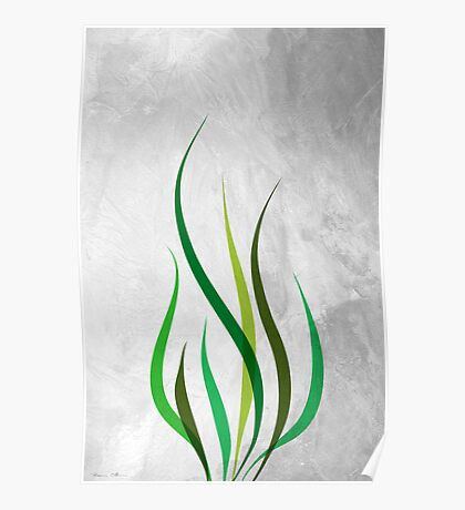 Green flame Poster