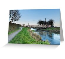 Fordgate Swingbridge Greeting Card
