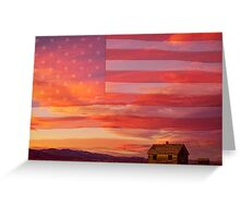 Rural Patriotic America Greeting Card