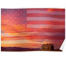 Rural Patriotic America Poster