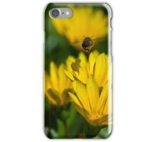 Bee flying mid air iPhone Case/Skin
