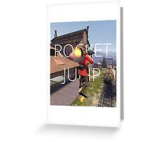 TF2: Rocket Jump (Hard edge) Greeting Card