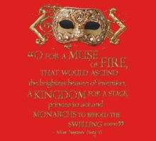 Shakespeare Henry V Muse Quote Baby Tee