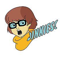 Velma Dinkley - Jinkes! [Blue Text] Photographic Print