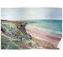 St.Cyrus Bay, Scotland Poster