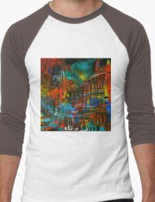 Story Bridge & Hotel, Brisbane. Men's Baseball ¾ T-Shirt