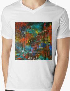 Story Bridge & Hotel, Brisbane. Mens V-Neck T-Shirt