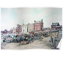 Arbroath Harbour, East coast of Scotland Poster