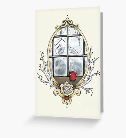 Season's Sleetings Greeting Card