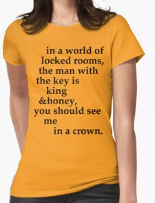 the man with the key Womens Fitted T-Shirt